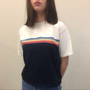 Brandy Melville Rainbow Stripe Tee Shirt